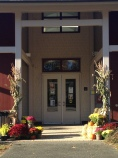Library front door
