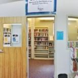 book sale room front doorway