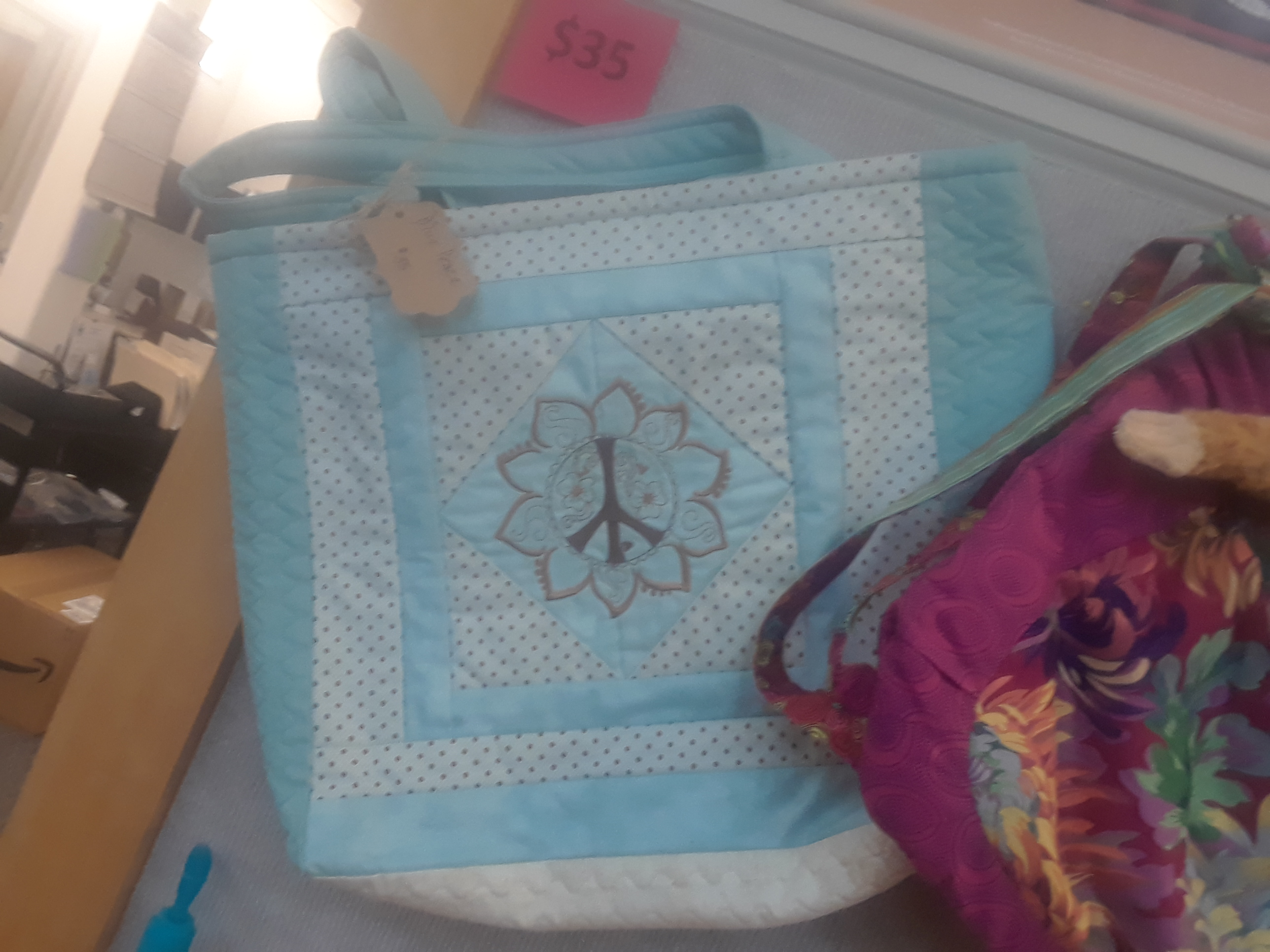 Blue Peace Bag - large